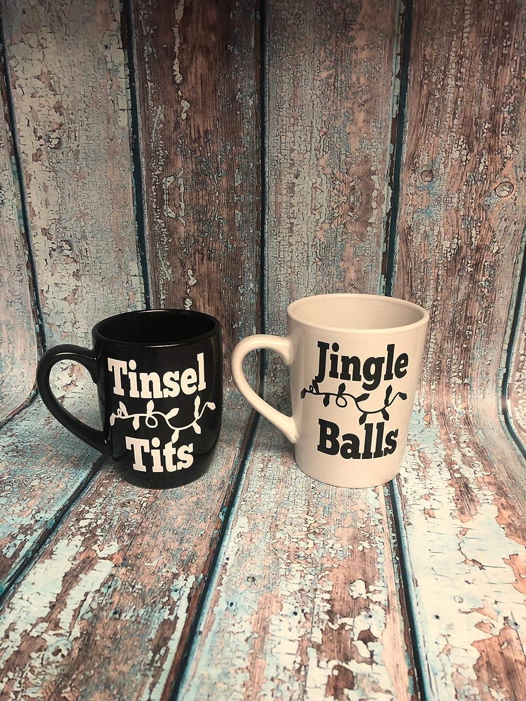Jingle Balls Tinsel Tits Funny Christmas Mug Mature Christmas Funny Christmas
