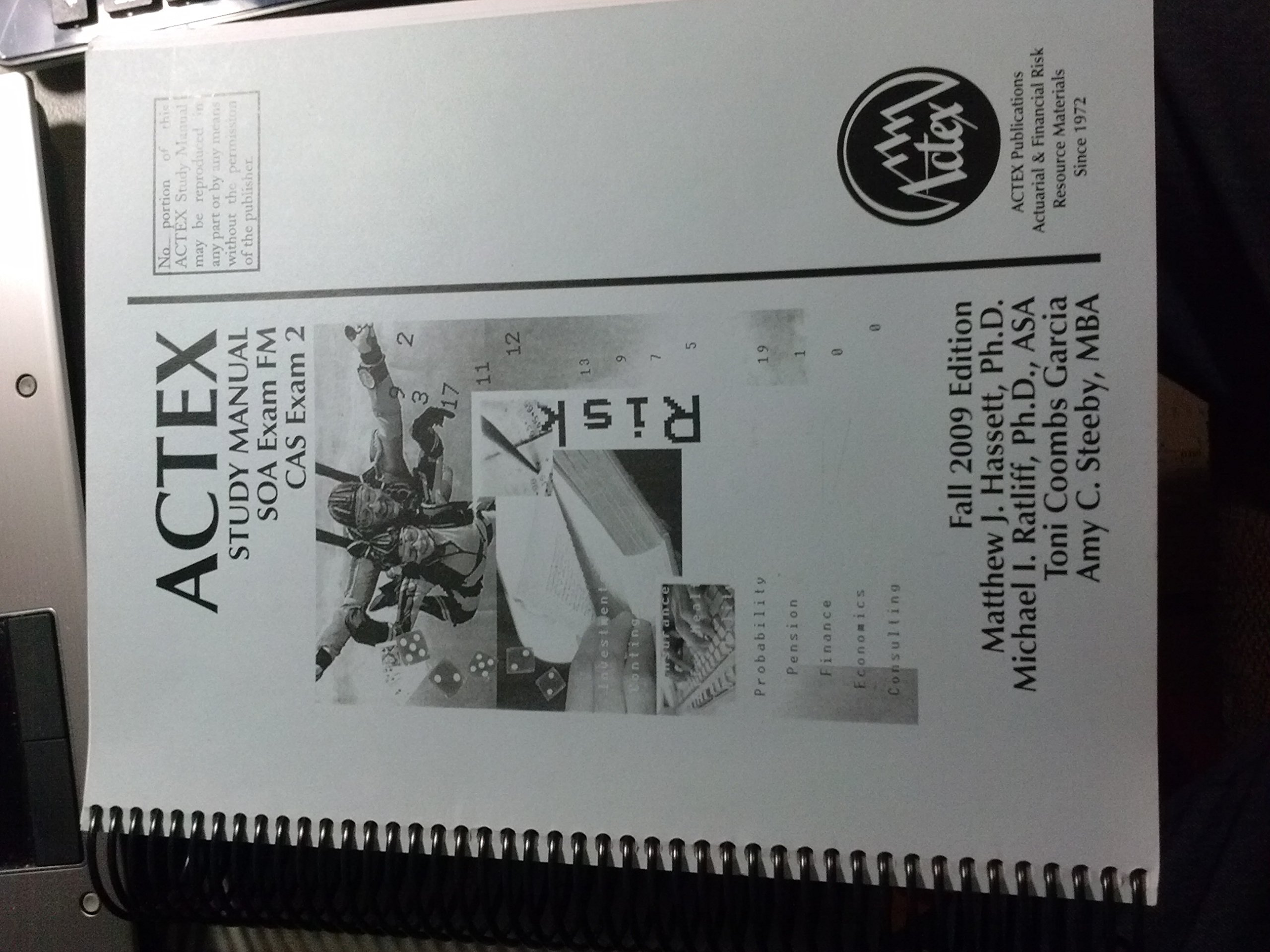 Actex Study Manual SOA Exam FM CAS Exam 2: Matthew J. Hassett:  9781566987011: Amazon.com: Books