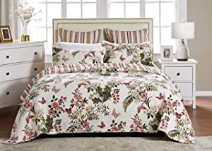 Greenland Home Butterflies Quilt Set, King, Multi