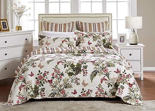 2 Piece Quilt Set Greenland Home Fashions Butterflies