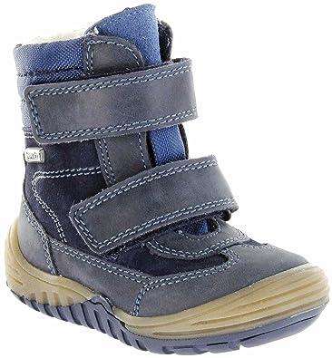 8f55e4838bb85d Richter Kinder Lauflerner-Stiefel Glattleder Warm Blau Sympatex Jungen  Schuhe 1032-441-7201