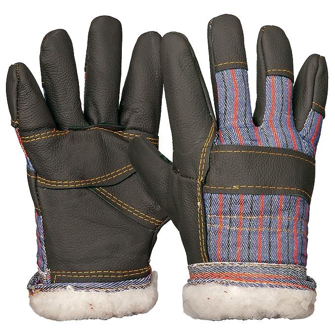 RMC-WINTREE Winterhandschuhe Schutzhandschuhe Arbeitshandschuhe Leder Gefüttert