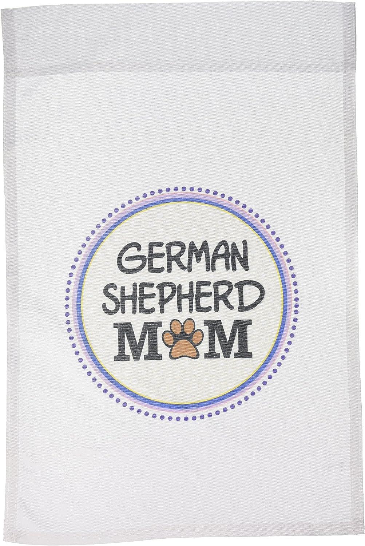 3dRose Fl_151746_1 German Shepherd Dog Mom Alsatian Garden Flag, 12 by 18-Inch