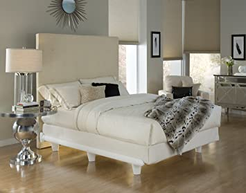 knickerbocker embrace bed frame in white california king size