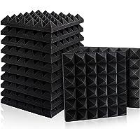 12 Pack Set Akoestische Schuim Panelen, Studio Wedge Tegels, Akoestische Schuim Geluidsabsorptie Piramide Studio…