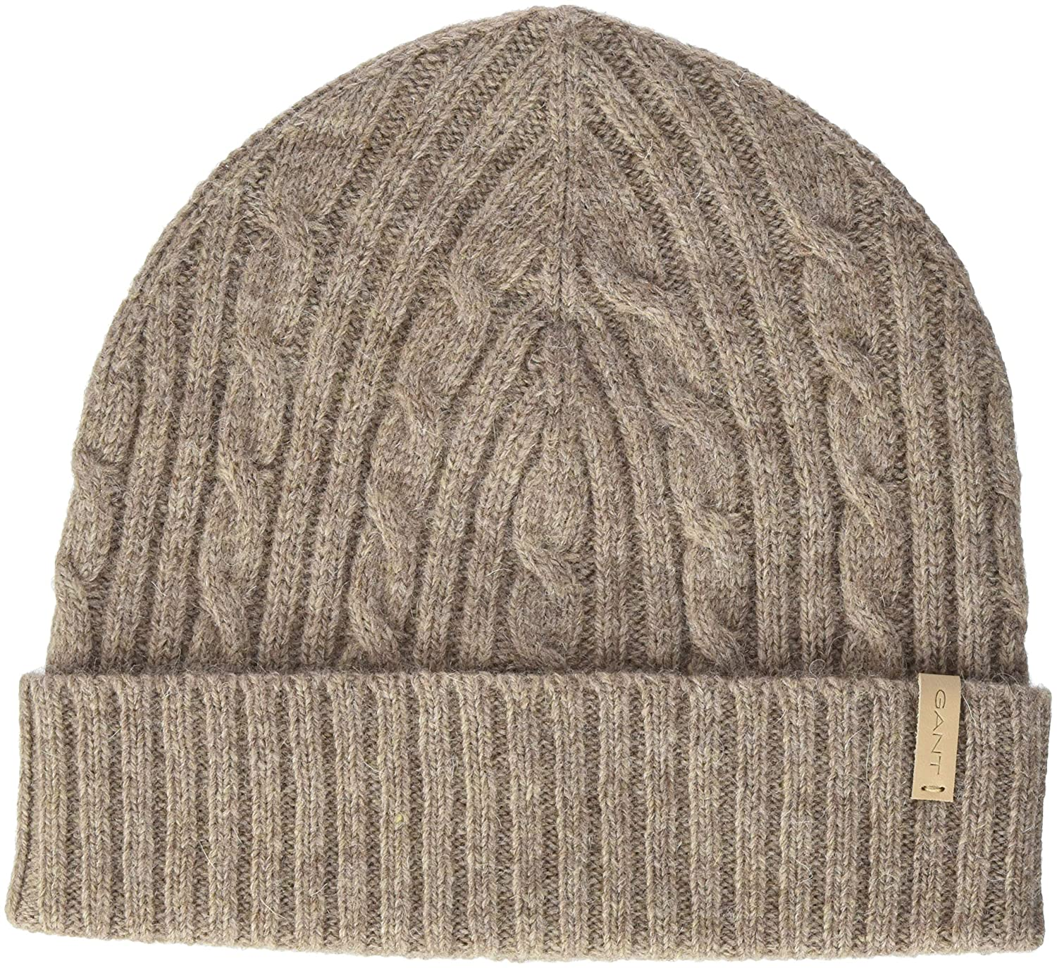 Gant O2. Cable Knit Hat Gorro de Punto, Marrón (Desert Brown ...