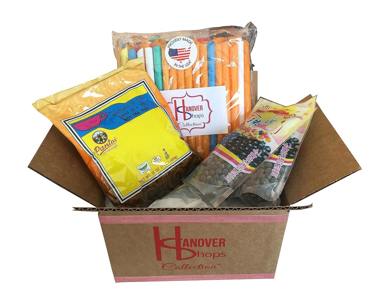 Amazon.com : Hanover Shops Collection of BOBA Tapioca Pearls for ...