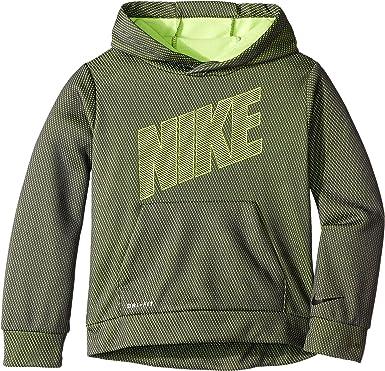37c56854 Nike Kids Boy's Mesh Face Therma Pullover Hoodie (Little Kids) Dark Gray 5