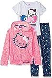 Hello Kitty Toddler Girls 3 Piece Zip Up Hoodie