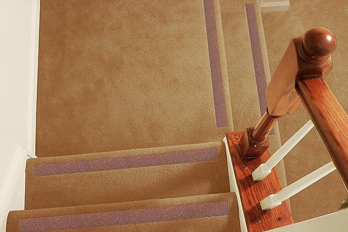 Antideslizante tiras – antideslizante para mayor seguridad en con moqueta para escaleras, antideslizante tracción para interior de moqueta escaleras: Amazon.es: Bricolaje y herramientas
