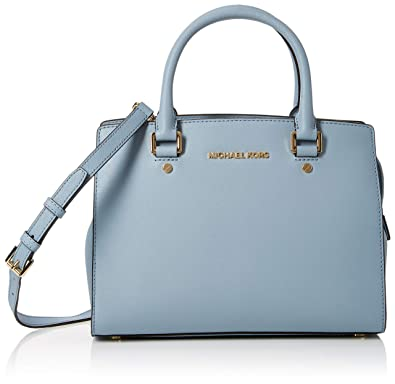 3c6f6202b84a Amazon.com: Michael Kors Womens Selma Satchel Blue (PALE BLUE): Shoes