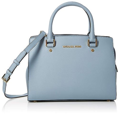 d69faa6f8d Michael Kors Selma - Borse a secchiello Donna, Blu (PALE BLUE), 10x23x29 cm  (W x H L): Amazon.it: Scarpe e borse