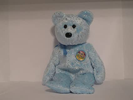 3ac4107a6f3 Image Unavailable. Image not available for. Color  TY Beanie Baby - DECADE  the Bear ...