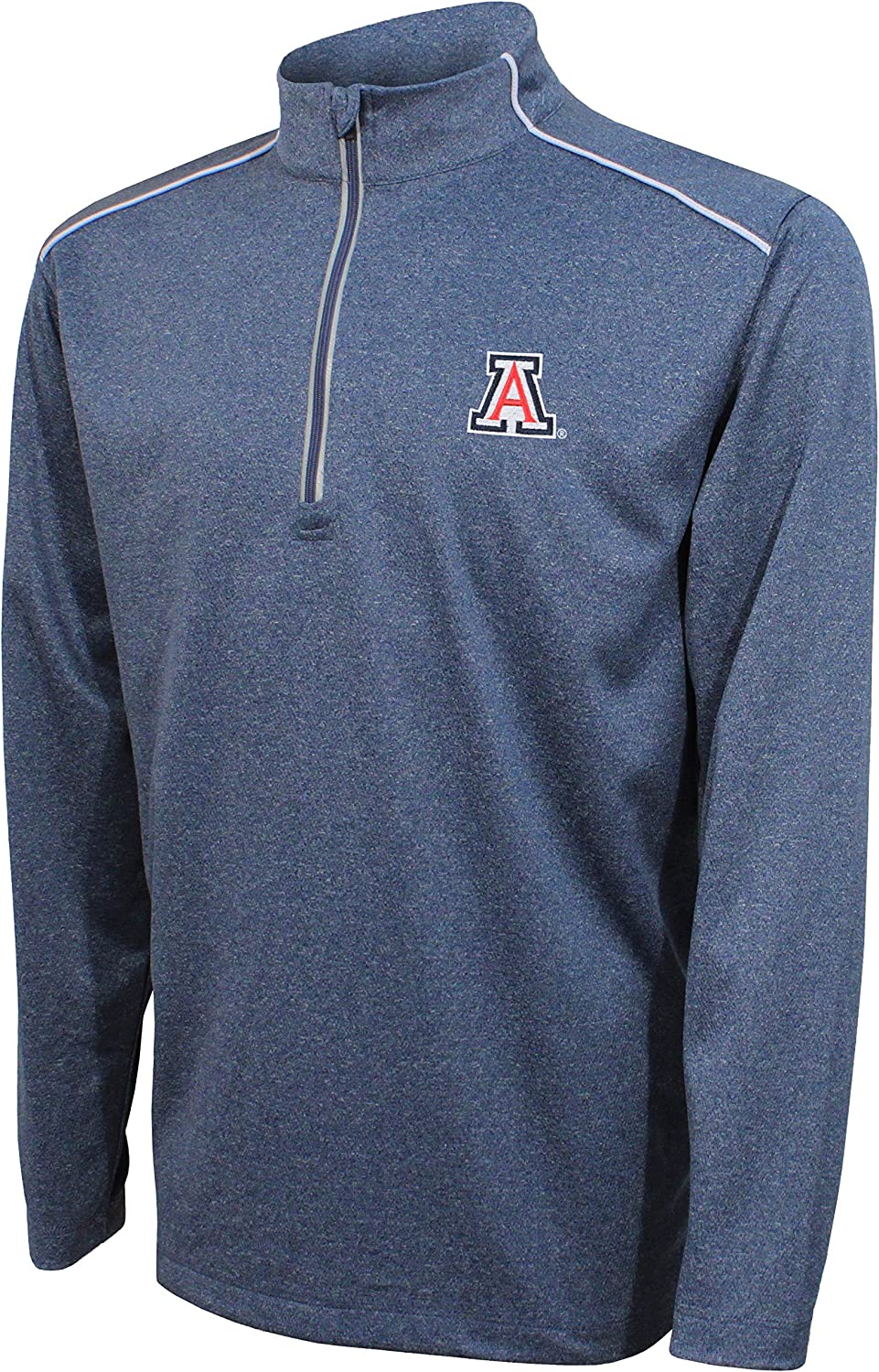 Crable NCAA Adult Men NCAA Mens Quarter Zip with with Shoulder Piping