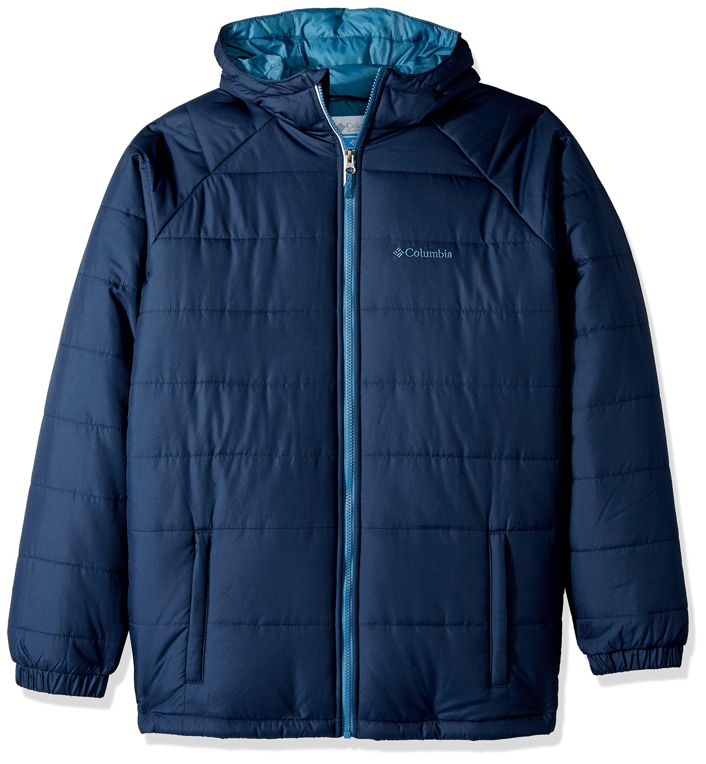 Columbia Boys' Big Tree Time Puffer Jacket, Collegiate Navy, Medium