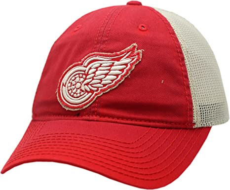 f49bf7d7624 Image Unavailable. Image not available for. Color  Detroit Red Wings  Snapback Vintage Logo Washed Away Mesh 12508