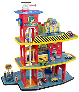Amazon Com Kidkraft Deluxe Garage Set Kid Kraft Toys Games