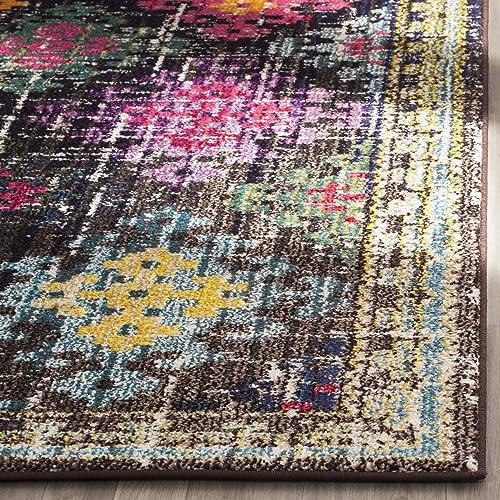 Safavieh Monaco Collection MNC244F Modern Bohemian Diamond Multicolored Area Rug 9 x 12