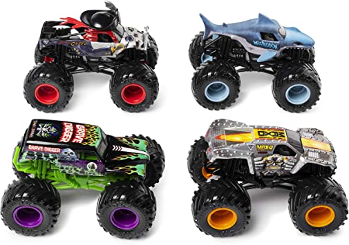 Monster Jam 6053860 Pack de 4 vehículos (escala 1:64  oOE4o