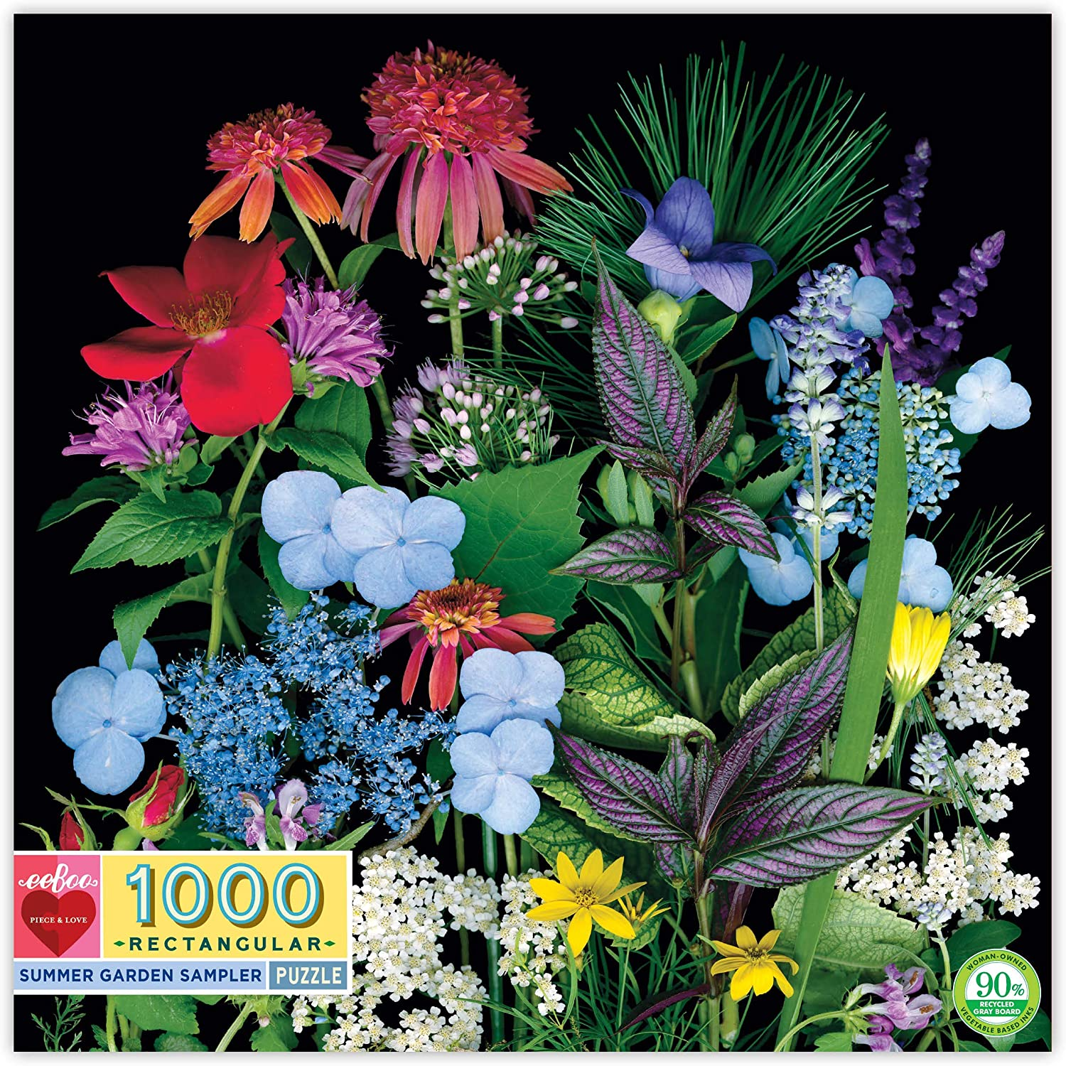eeBoo Summer Garden Jigsaw Puzzle for Adults, 1000 Pieces