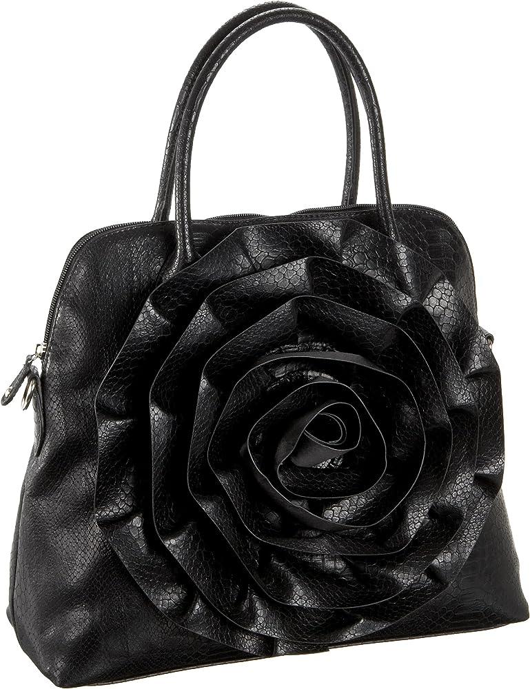 Amazon.com: Big Buddha Mia Satchel, negro, talla única: Clothing