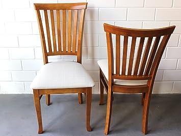 Langer Naturholzmöbel 2X Stuhl Massivholz Landhaus U201e Espanha Aus Pinienholz  Mit Polster, Oregon Lackiert Für