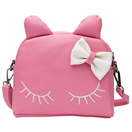 13fc54f291e Image Unavailable. Image not available for. Color  Wraifa Kids Purse, Cute Cat  Crossbody Bag Mini Toddler Backpack for Little Girls ...
