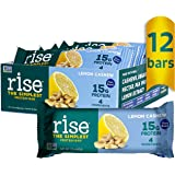 Rise Pea Protein Bar, Lemon Cashew, Soy Free, Paleo Breakfast & Snack Bar, 15g Protein, 4 Natural Whole Food Ingredients, Sim