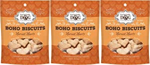 Exclusively Dog 3 Pack of Boho Biscuits Pumpkin Harvest Hearts Wheat-Free Dog Treats, 8 Ounces Each, Made in The USA