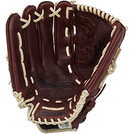 Mizuno GFN1300F1 Franchise Fastpitch Left Handed Throw Softball Fielders Mitt, Coffee/Cork, 13.00-Inch