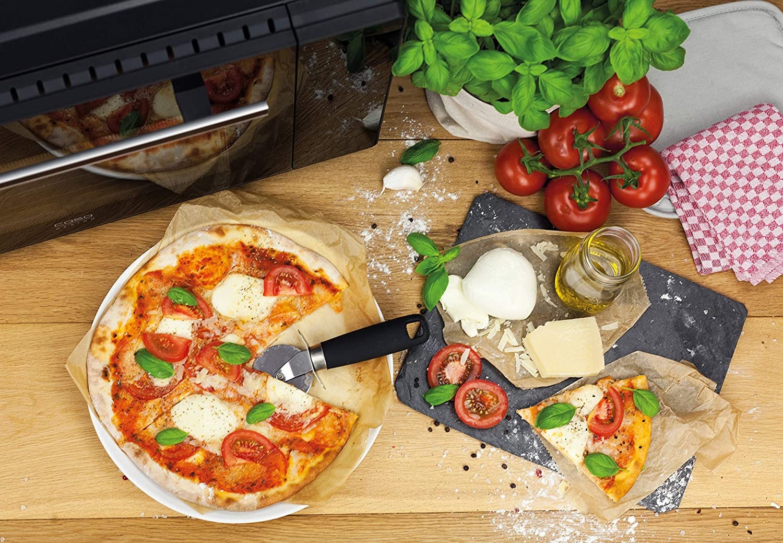 calor inferior calor superior incluye piedra para pizza 5 funciones: aire caliente 32 l calor superior e inferior Horno el/éctrico de dise/ño de CASO TO32 con aprox pincho giratorio con motor