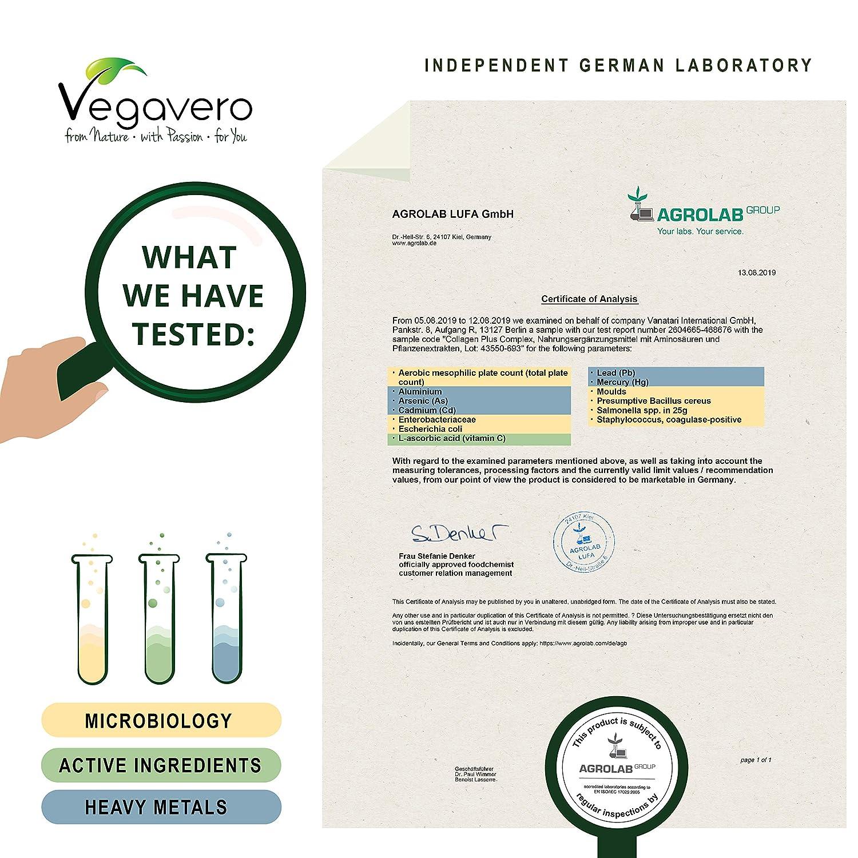 Complejo Colágeno Vegavero® | VEGANO | Ahora También 270 Cápsulas | Con Vitamina C + Ginkgo Biloba + Ginseng | 120 Cápsulas | Piel + Articulaciones + ...