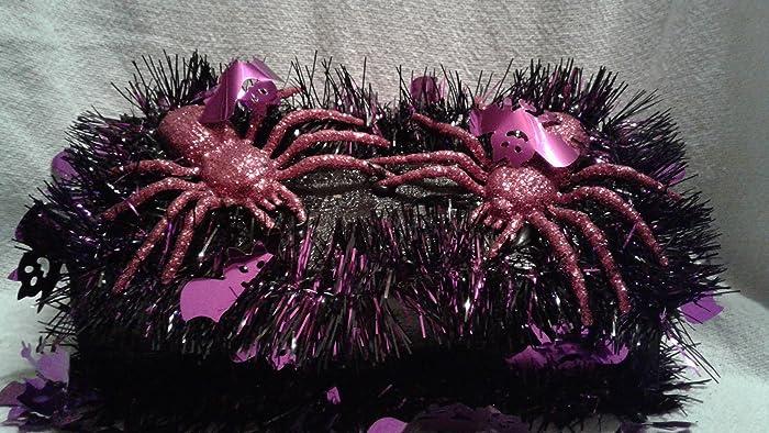 Halloween Duo.Amazon Com Halloween Purple Spider Duo Handmade