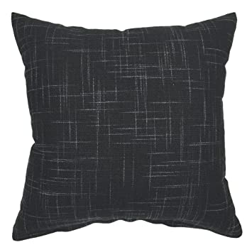 Your Smile Solid Black Square Cotton Linen Decorative Throw Pillow Case Cushion Cover Pillowcase For Sofa 18 X 18 Inch Amazon In Home Kitchen
