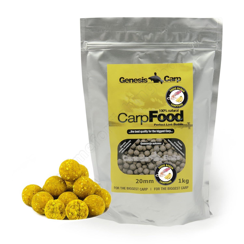 Carp Boilies 20mm 1kg Forest Fruits Squid Banana Hook Bait Fishing Pack