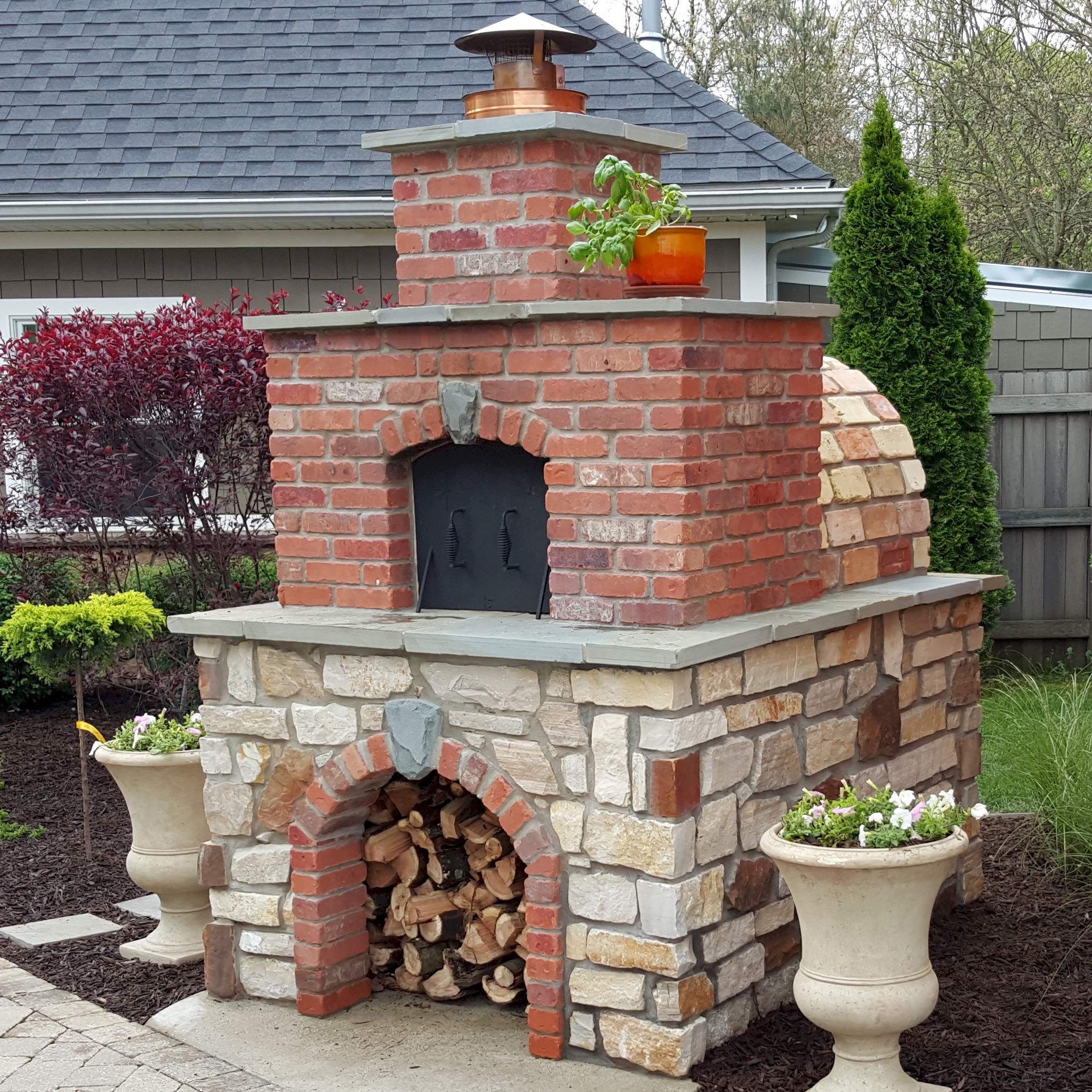 Brick Pizza Oven • Wood Fired Pizza Oven - Build a Large Brick Oven in Your Backyard with The Foam Mattone Barile Grande DIY Brick Oven Form and Locally sourced Masonry Materials. by BrickWood Ovens