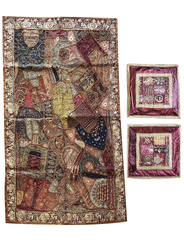 Amazon.com: Mogul Interior Beaded Maroon Tapestry with ...