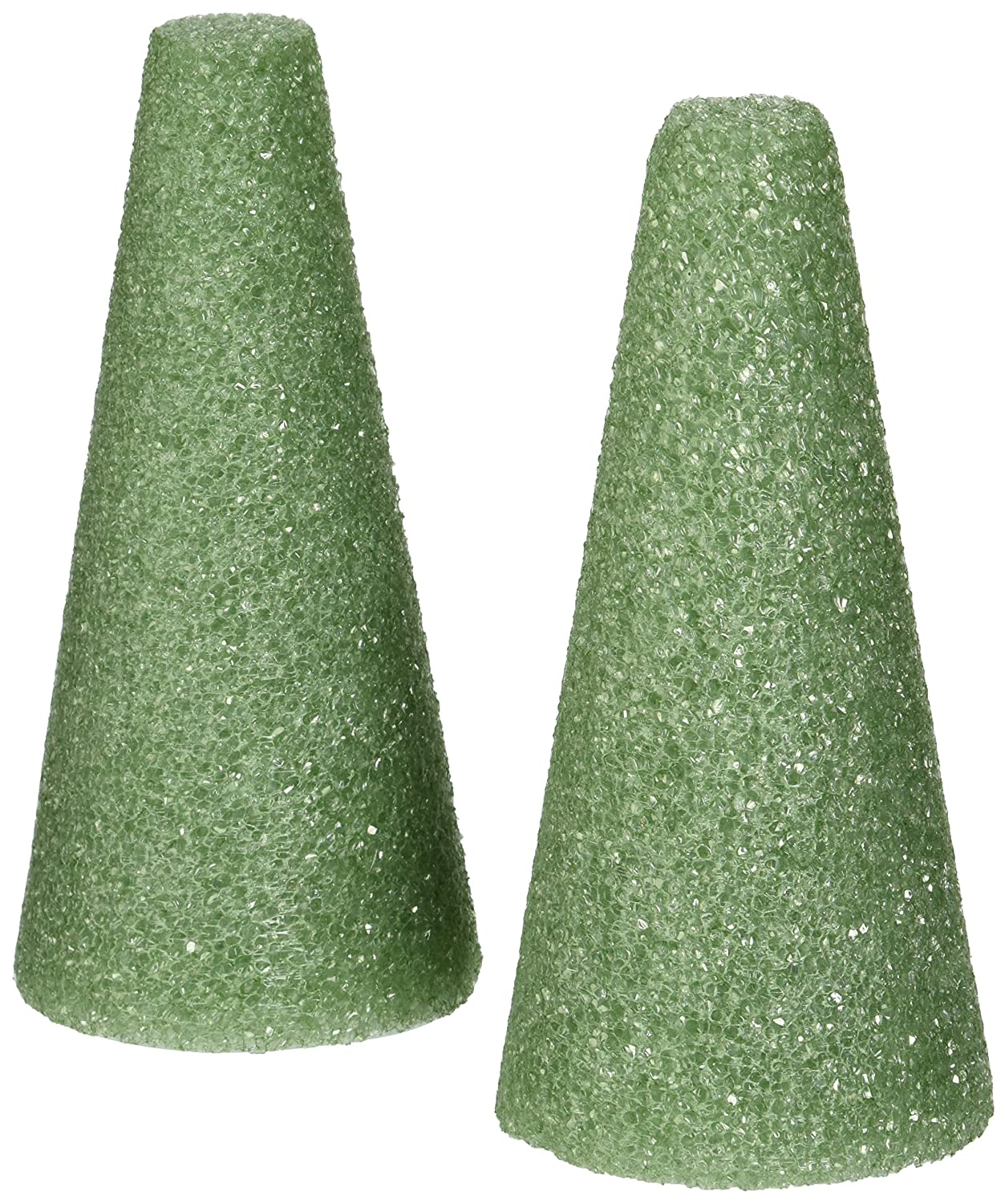 Styrofoam Cones 6X3 2/Pkg-Green Notions - In Network 287207