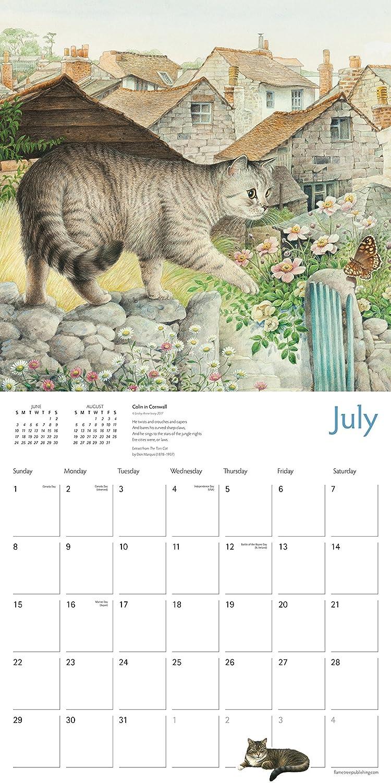 Ivory gatos calendario 2018 oficial cuadrado (30 cm x 30 cm) nuevo y sellado: Amazon.es: Hogar