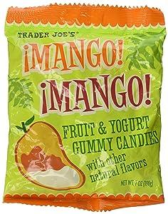 Trader Joe's Mango ! Mango ! Fruit & Yogurt Gummies Soft Candies Flavored with Mango,passionfruit and Yogurt Fat Free !!!!