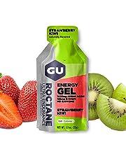 GU ENERGY Roctane Ultra Endurance Energy Gel, Strawberry Kiwi, 24-Count