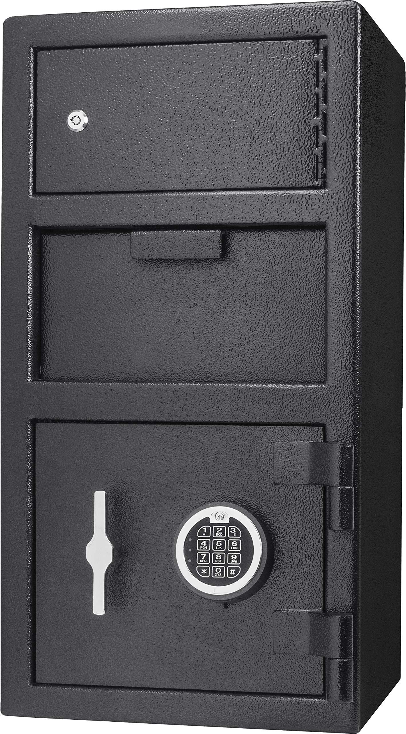 Winbest Steel Digital Keypad Security Lock Depository Drop Slot Parcel Mail Safe with Locker