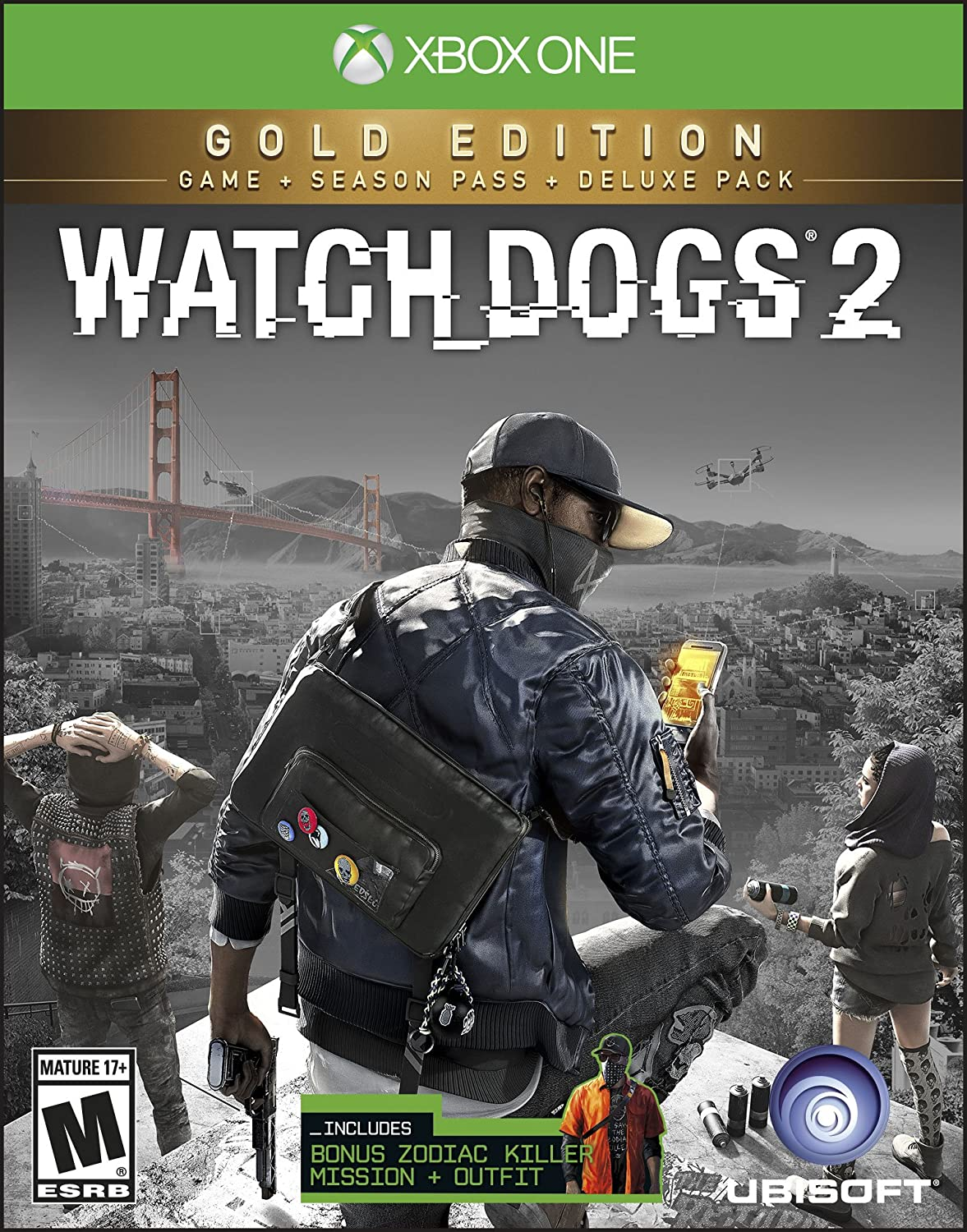 Amazon.com: Watch Dogs 2: Gold Edition (Includes Extra Content + Season  Pass subscription) - Xbox One: Computers & Accessories