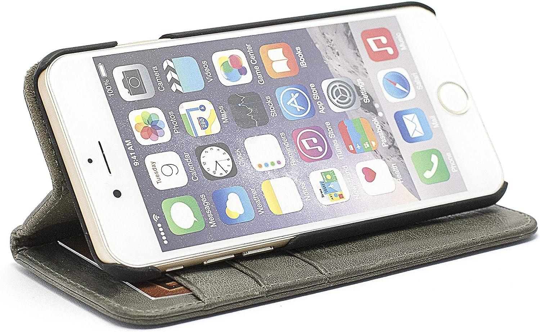 Schutzh/ülle Brieftasche mit Kartenfach Klappbar Magnetisch Sto/ßfest Handyh/ülle Case f/ür Apple iPhone 8//7 LOHME010023 Grau Lomogo iPhone 8 iPhone 7 H/ülle Leder
