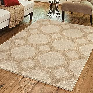 "product image for Orian Garden Walk Area Rug, 5'3"" x 7'6"", Seashell"