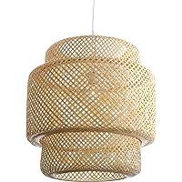 Lussiol 250601 Hanglamp, bamboe, 60 W, natuur, groot