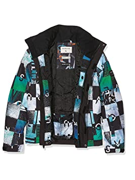 Quiksilver Mission Printed Youth - Chaqueta de nieve para niño, color Multicolor (Chakalapaki Bluefish
