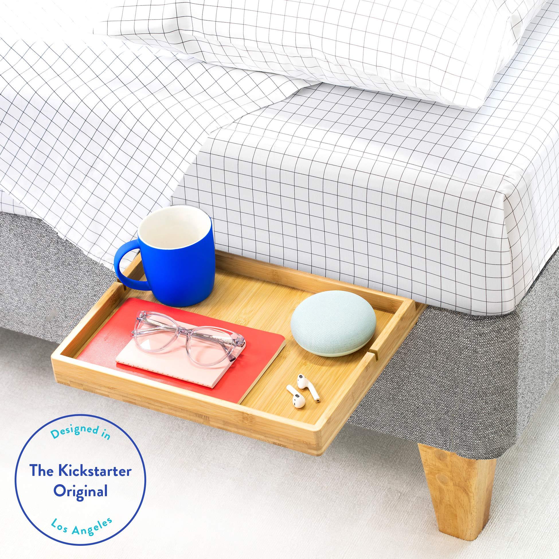 BedShelfie The Original Bedside Shelf - 9 Colors / 4 Sizes - AS SEEN ON Business Insider (Slide, Natural) by BedShelfie