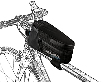 86eb862e38d Roswheel Attack Series 121370 Waterproof Bike Front Frame Bag Bicycle Tube  Top Pannier Cycling Accessories Pack