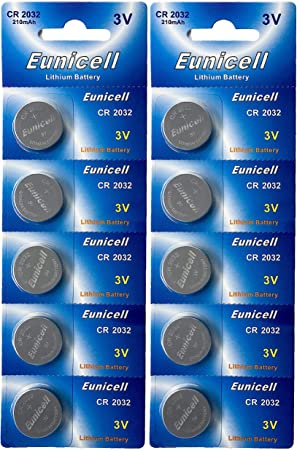 1 x CR2032 3V Knopfzellen Lithium Batterie Eunicell